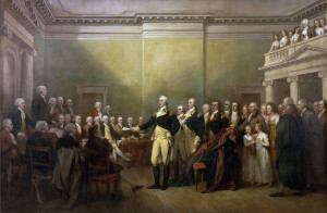 General George Washington resigning his commission, 1783