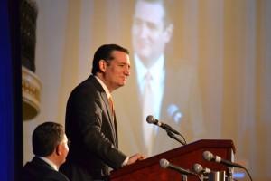 Senator Ted Cruz address the convention.