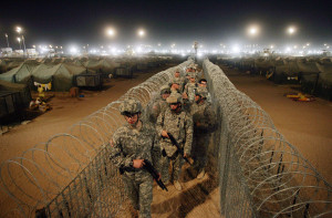 U.S. Soldiers at Camp Bucca in Iraq. Photo Credit: DAVID FURST/AFP/Getty Images