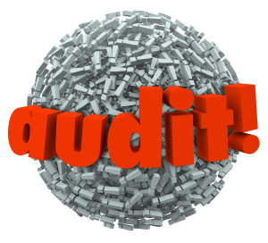 Audit Word Ball Anxiety Fear Tax Financial Accounting Practices
