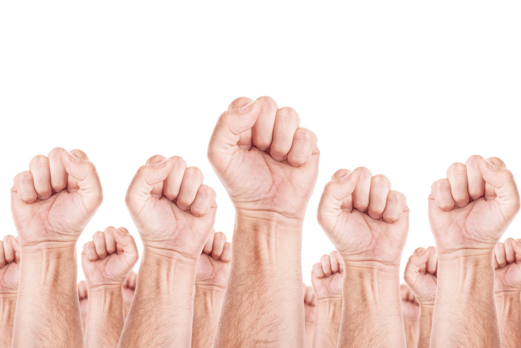 Labour movement, workers union strike