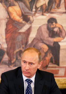 Silvio Berlusconi Meets With Vladimir Putin