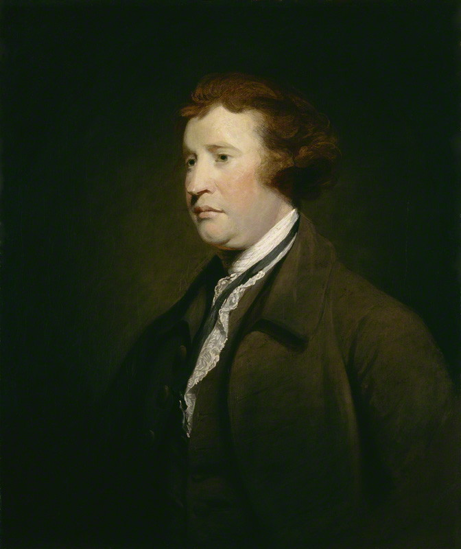NPG 655; Edmund Burke studio of Sir Joshua Reynolds