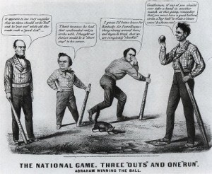 Lincoln cartoon baseball