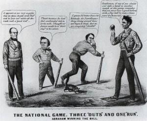 Lincoln cartoon baseball