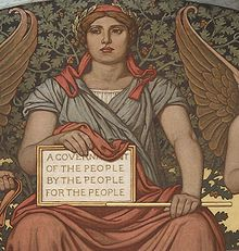 Elihu Vedder's mural Government (1896).