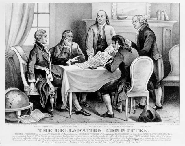 The Declaration Committee, New York, 1876.