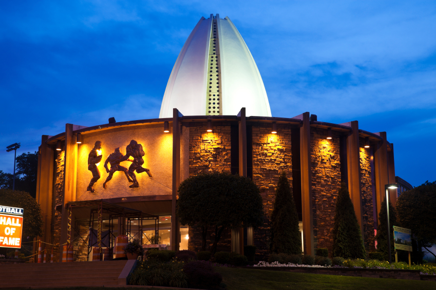 Pro Football Hall of Fame in Canton, Ohio. Built in 1963.