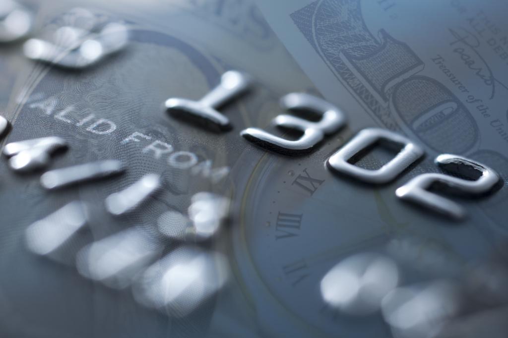 Credit Card  US Paper  - Stock Image