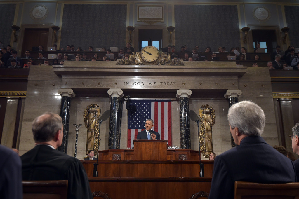 President Obama Delivers The State Of The Union Address